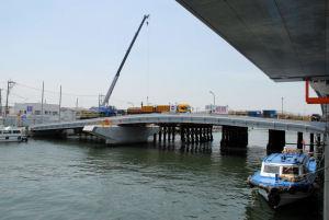 野島橋架替工事中