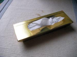 金塊風な作りのテッシュBOX