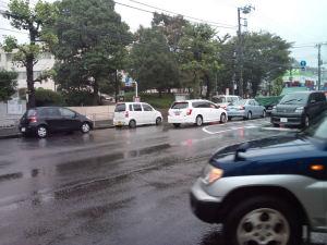 渋滞中の国道