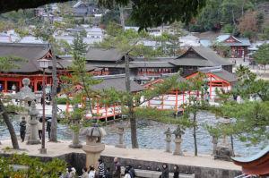 千畳閣石段からの厳島神社