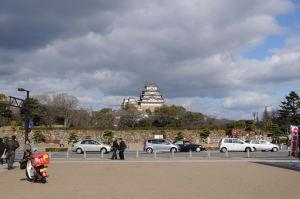 遠くからもお城がよく見えます