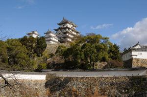 菱の門からの姫路城