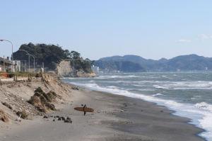 七里ヶ浜パーキングからの稲村ヶ崎