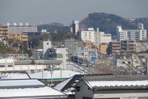 08年2月4日の風景、横浜積雪7cm