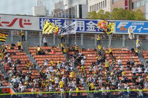 レフトスタンドの阪神ファン