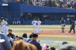 5回裏横浜・橋本選手2ランホームラン