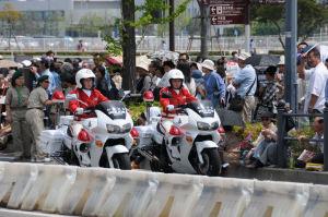 県警女性白バイ隊員
