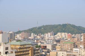 ホテルからの松山城