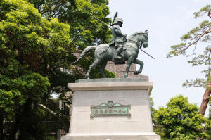「山内一豊公」の像