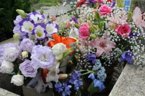 墓前のお花