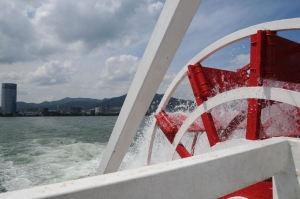 琵琶湖汽船「ミシガン」の後部外輪