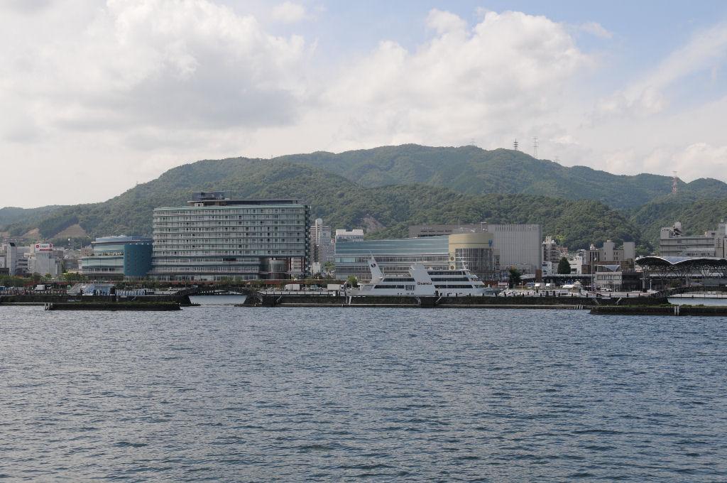 大津港が一望