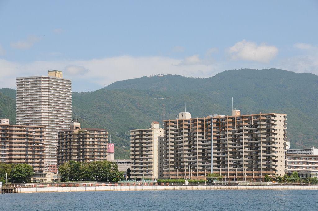 比叡山ドライブウェイの展望台も見えました