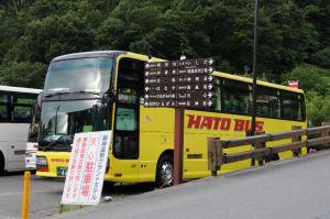 観光バスも数台停まっていました