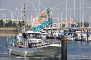 汐祭を見学し港に戻る
