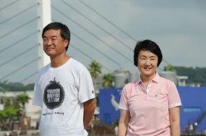 松沢県知事と林市長
