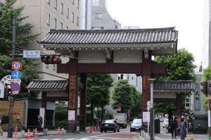 芝大門の交差点の「総門」(大門)