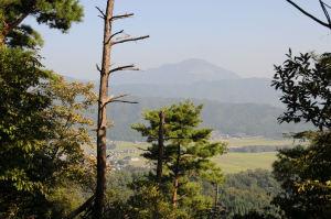 南東に伊吹山が見えます