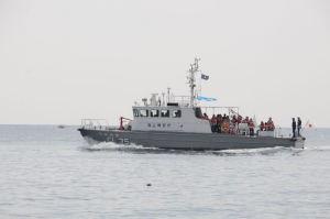 海上パトロール体験、巡視船「うみかぜ」