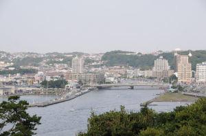 「江之島亭」から見た河口