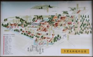 多賀大社境内図