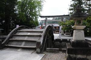 「太閤橋」、石の反り橋