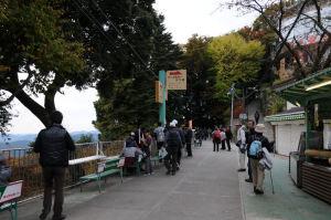 ケーブルカー「高尾山駅」
