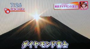 「ダイヤモンド富士」山梨県富士川町