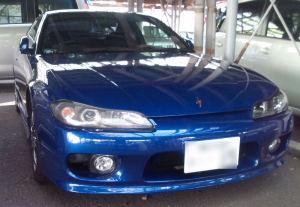 Sさんの愛車、ブルーの「シルビア」