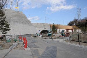 第一工区北側にあるトンネル
