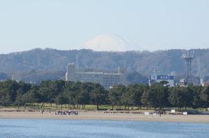 八景島の橋からは富士山がよく見えました
