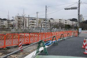 「市道切り替え工事」