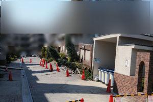 機械式の駐車場が被害