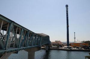 シーパラ駐車場は橋の手前