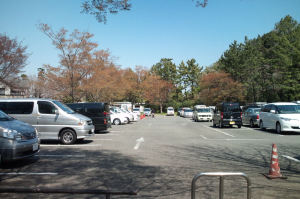 野島公園の駐車場