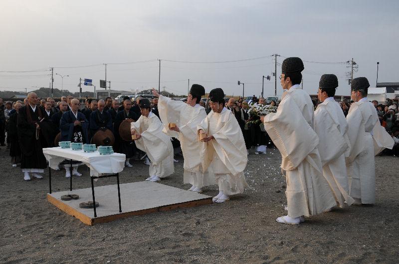復興祈願祭・鎌倉、由比ヶ浜