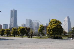 近代的な横浜らしい風景が広がります