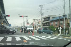 交通事故が発生