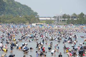「海の公園」、4日好天に恵まれ