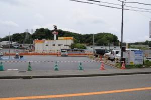 不発弾が発見された工事現場