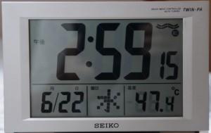 屋根裏の気温