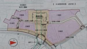設計図、駅前広場も整備