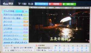 NHKの「データ」画面