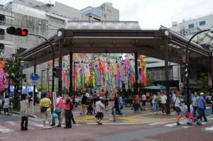 会場中央の広場