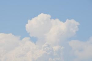 真っ白な入道雲が