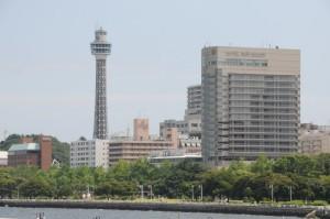 次の目的地は「横浜マリンタワー」