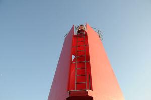 真っ赤なA防波堤灯台