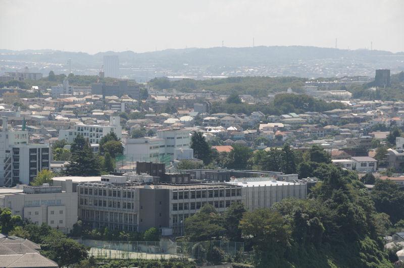 大きな建物はフェリス女学院高
