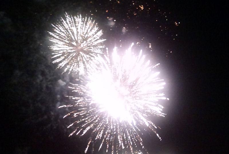 1500発もの花火が打ち上がりました