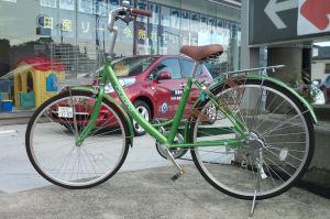 自転車を借してもらい